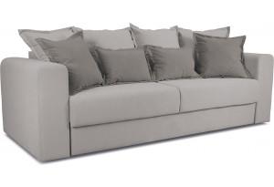Диван «Раймонд» Galaxy 06 (велюр), серый, подушка Galaxy 05 (велюр), светло-коричневый