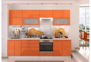 Кухня Ксения 2,8м (модульная система), оранж