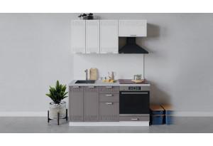 Кухонный гарнитур «Долорес» длиной 160 см со шкафом НБ (Белый/Сноу/Муссон)