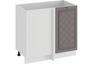 Шкаф напольный угловой «Бьянка» (Белый/Дуб серый)