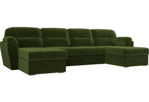 П-образный диван Бостон Зеленый (Микровельвет)