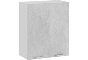 Шкаф навесной c двумя дверями «Гранита» (Белый/Бетон снежный)