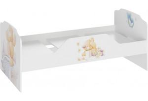 Кровать «Тедди» Белый с рисунком