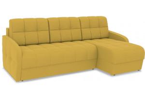Диван угловой правый «Аспен Slim Т1» (Poseidon Curcuma (иск.замша) желтый)