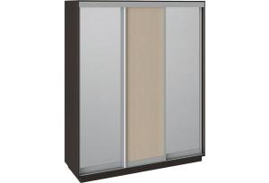 Шкаф-купе 3-х дверный «Румер» Венге, Зеркало/Дуб молочный/Зеркало