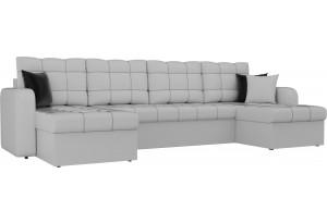 П-образный диван Ливерпуль Белый (Экокожа)