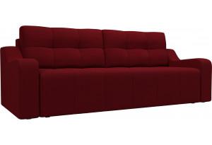Прямой диван Итон Бордовый (Микровельвет)