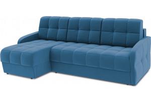 Диван угловой левый «Аспен Slim Т1» (Beauty 07 (велюр) синий)
