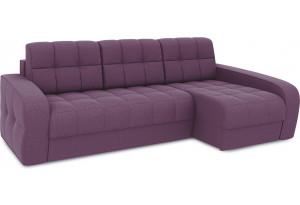 Диван угловой правый «Аспен Т2» (Kolibri Violet (велюр) фиолетовый)