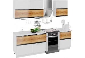 Кухонный гарнитур длиной - 240 см Фэнтези (Вуд)