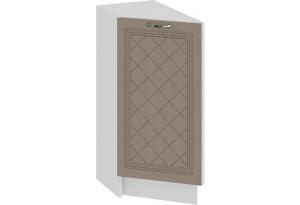 Шкаф напольный торцевой с одной дверью «Бьянка» (Белый/Дуб кофе)