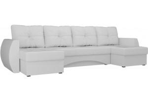 П-образный диван Сатурн Белый (Экокожа)