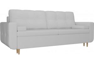 Прямой диван Кэдмон Белый (Экокожа)