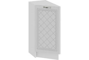 Шкаф напольный торцевой с одной дверью «Бьянка» (Белый/Дуб белый)