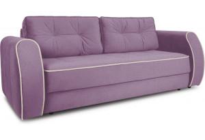 Диван «Хьюго» (Maserati 18 (велюр) фиолетовый кант Beauty 02 (велюр), капучино)