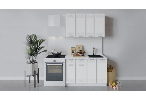 Кухонный гарнитур «Долорес» длиной 120 см (Белый/Сноу)