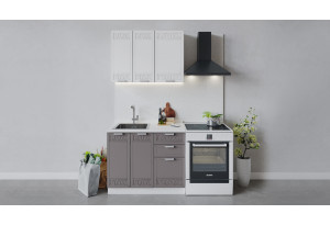 Кухонный гарнитур «Долорес» длиной 100 см (Белый/Сноу/Муссон)