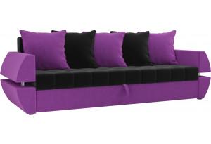 Диван прямой Атлант Т черный/фиолетовый (Микровельвет)
