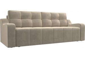 Прямой диван Итон Бежевый (Микровельвет)