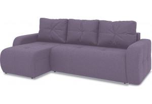 Диван угловой левый «Томас Т1» (Neo 09 (рогожка) фиолетовый)