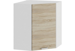 Шкаф навесной угловой «Гранита» (Белый/Дуб сонома)