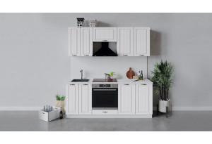 Кухонный гарнитур «Лина» длиной 200 см со шкафом НБ (Белый/Белый)