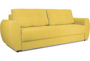 Диван «Оливер» Maserati 11 (велюр) желтый, кант Miami 01 (рогожка), песочный