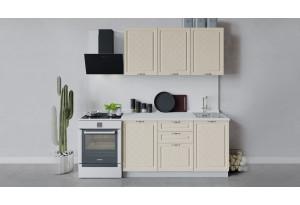 Кухонный гарнитур «Бьянка» длиной 150 см (Белый/Дуб ваниль)