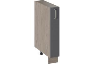 Шкаф напольный с выдвижной корзиной ОДРИ (Серый шелк)