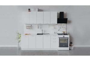 Кухонный гарнитур «Весна» длиной 200 см (Белый/Белый глянец)