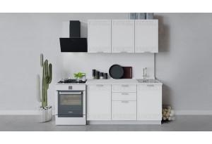 Кухонный гарнитур «Долорес» длиной 150 см (Белый/Сноу)