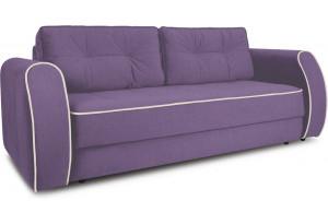 Диван «Хьюго» (Favo 67 (велюр) Фиолетовый кант Beauty 02 (велюр), капучино)