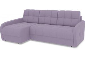 Диван угловой левый «Аспен Slim Т2» (Neo 09 (рогожка) фиолетовый)