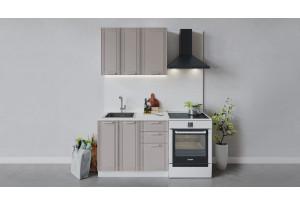 Кухонный гарнитур «Ольга» длиной 100 см (Белый/Кремовый)
