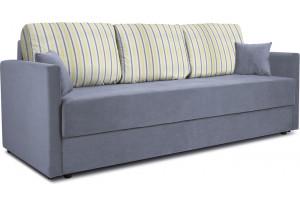Диван «Поло» Classic 08 серо-голубой подушки Strip 05