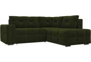 Угловой диван Леос Зеленый (Микровельвет)