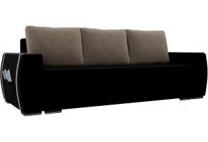 Прямой диван Брион Черный (Велюр)