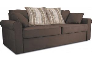 Диван «Шерри» Galaxy 04 (велюр), темно-коричневый, подушки Tiffany wood (шинил) древесный