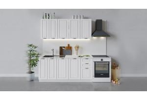 Кухонный гарнитур «Лина» длиной 180 см (Белый/Белый)