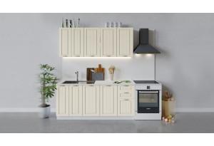 Кухонный гарнитур «Лина» длиной 180 см (Белый/Крем)