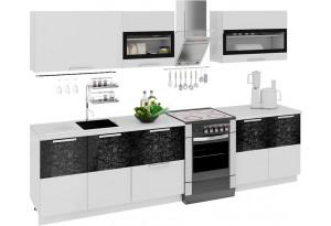 Кухонный гарнитур длиной - 300 см Фэнтези (Белый универс)/(Лайнс)
