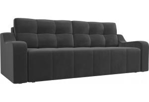 Прямой диван Итон Серый (Велюр)