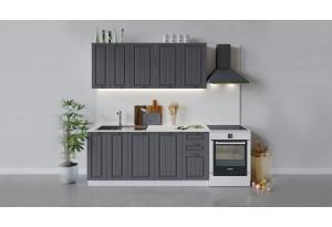 Кухонный гарнитур «Лина» длиной 180 см (Белый/Графит)