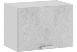 Шкаф навесной c одной откидной дверью «Гранита» (Белый/Бетон снежный)
