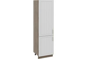 Шкаф пенал с 2-мя распашными дверями Дуб Сонома трюфель/Крем