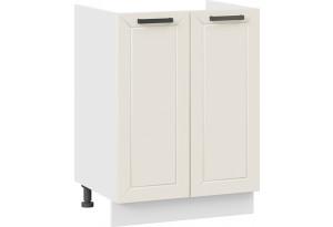Шкаф напольный с двумя дверями (под накладную мойку) «Лорас» (Белый/Холст брюле)