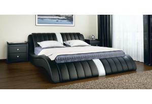 Кровать двойная Эмма экокожа