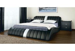 Кровать двойная Эмма экокожа, с подъемным механизмом