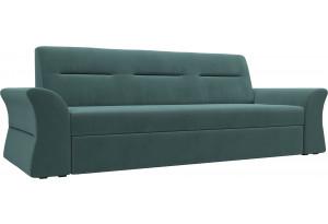 Прямой диван Клайд бирюзовый (Велюр)