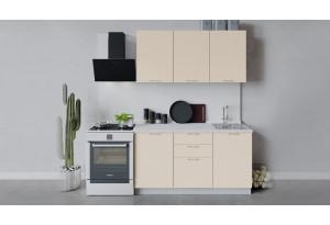 Кухонный гарнитур «Весна» длиной 150 см (Белый/Ваниль глянец)